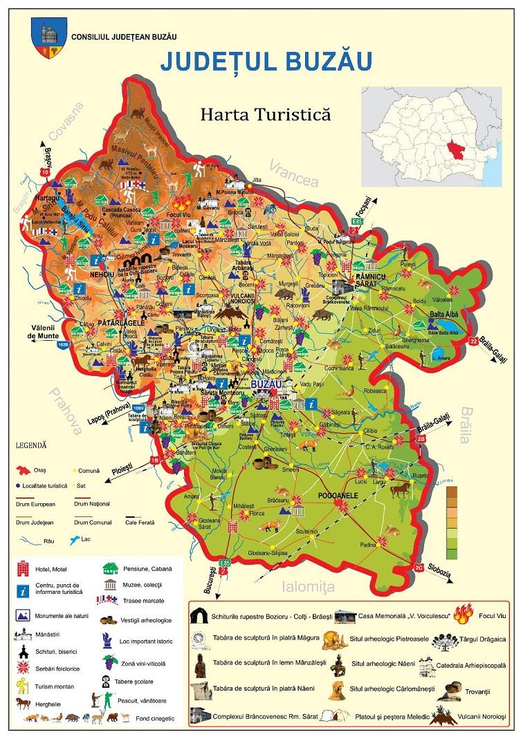 Harta Turistica Interactiva Judetul Buzau