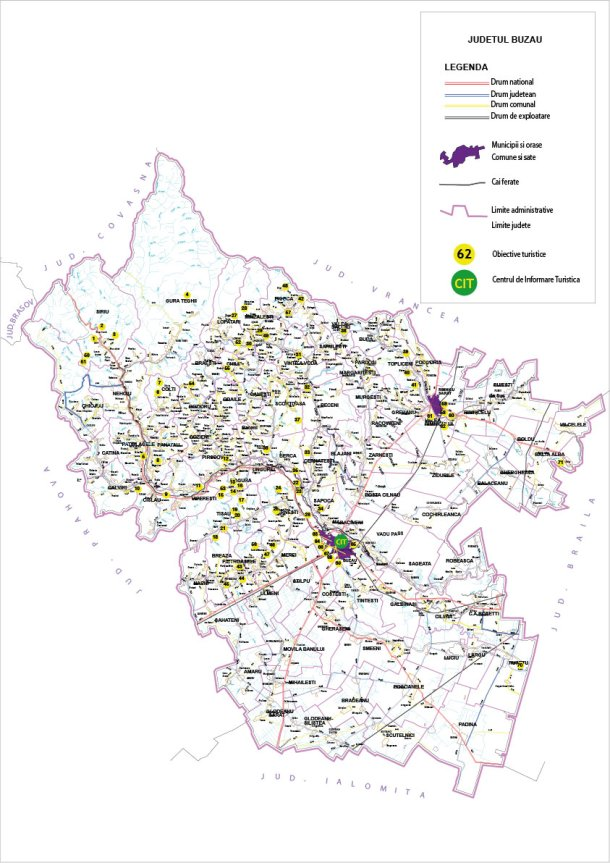 Harta Turistica Buzau Harta